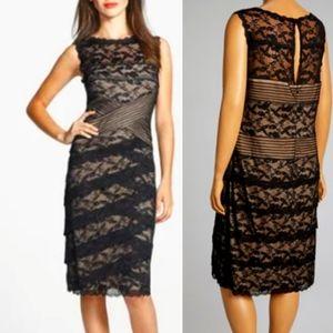 Blu Sage black lace formal sheath dress. 12